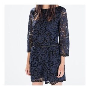 Zara Floral Lace Romper ~Midnight~